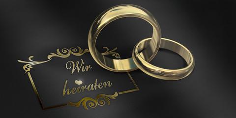 Wir heiraten, Ring - Leder