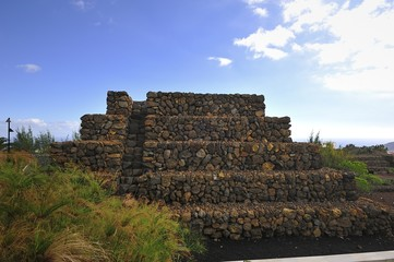 Details of the Stepped Pyramid of Tenerife