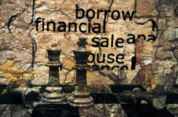 Borrow financial sale chess concept