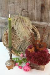 Herbststimmung bei Kerzenschein