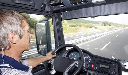 Zdjęcia na płótnie, fototapety, obrazy : Truck Driver