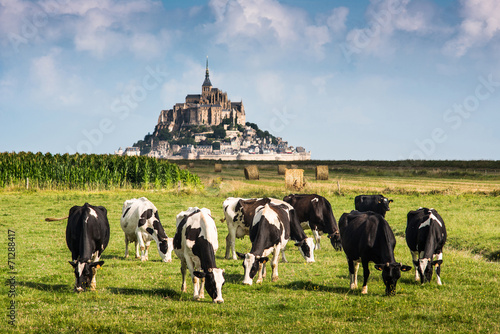 Papiers peints Chateau France Manche Mont Saint Michel bay listed as UNESCO World Herit