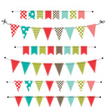 Christmas banner, bunting or flags