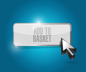 add to basket button illustration design
