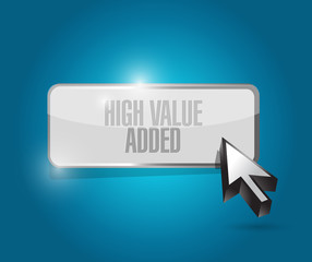 high value added button illustration