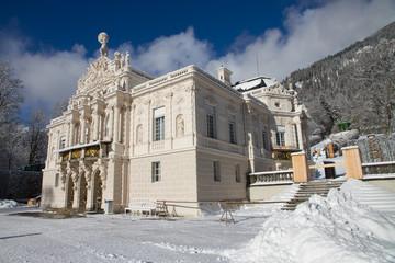 Beautiful Linderhof Palace in Winter
