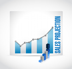 sales projection business graph illustration