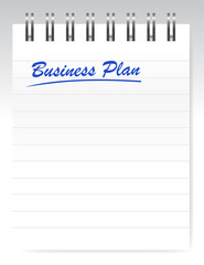 business plan notebook page illustration design
