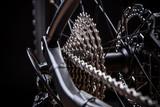 close-up of mountain bike, studio shot. - 71288800