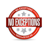 no exceptions seal illustration design poster