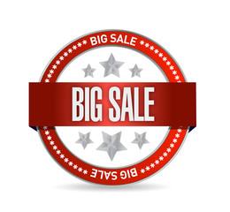 big sale seal illustration design
