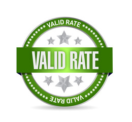 valid rate seal illustration design