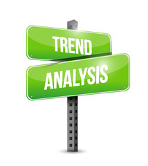 trend analysis sign illustration design