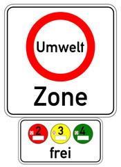 Umweltzone Schild Plakette  #141008-svg03