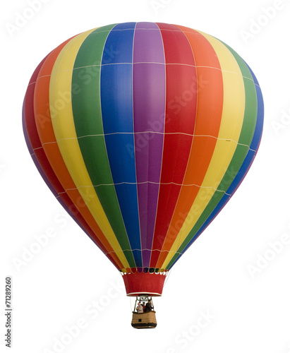 Foto op Aluminium Ballon Hot Air Balloon Against White