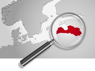Landkarte *** Europa Lettland