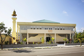 Mosque in Hulhumale. Republic of the Maldives