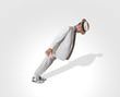 Leinwandbild Motiv dancer performing lean move