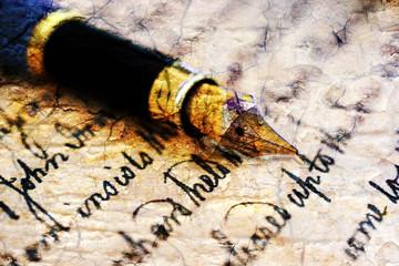 Grunge Old letter