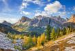 Leinwanddruck Bild - Mount Lagazuoi, Falyarego path, Dolomites