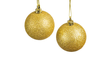 Christmas balls on a light background