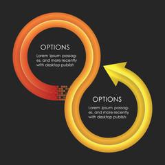 Infographics design template. Circular arrows