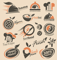 Food and restaurants logo design inspirations