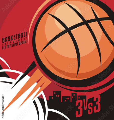 obraz PCV Basketball poster design