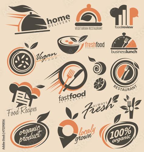 Food and restaurants logo design inspirations - 71290856
