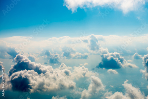 Blue clouds and sky - 71291025