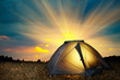 Illuminated yellow camping tent - 71291609