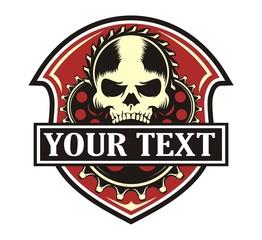 skull gear red emblem