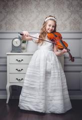 niña con violin