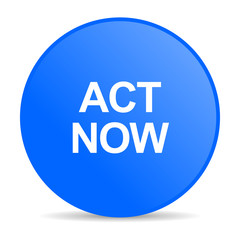 act now internet blue icon