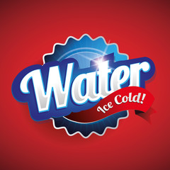 Drinking and Water Label vector red
