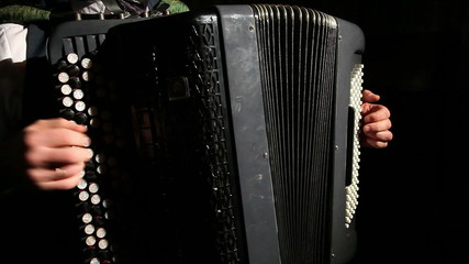 man plays the accordion 1