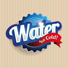 Drinking and Water Label vector on paper