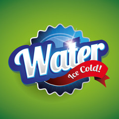 Drinking and Water Label vector green