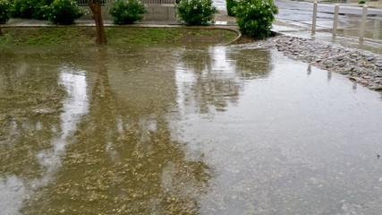 Monsoon Rain Inundate Phoenix streets, AZ