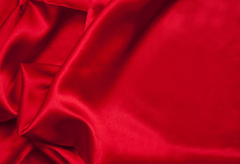 Red Satin Fabric