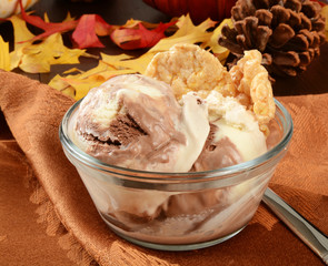Chocolate toffee ice cream