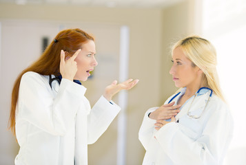 health care professionals doctors fighting having argument