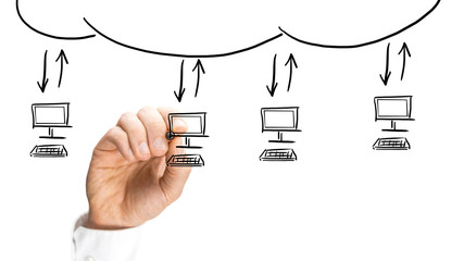 Computer network using cloud computing technology