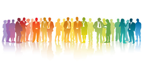 Colorful businesspeople