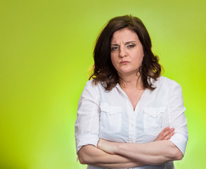 pissed off angry grumpy pessimistic middle aged woman