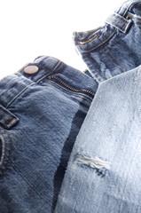 Old Denim Blue Jeans