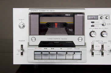 Vintage Stereo Cassette Tape Deck Recorder Front