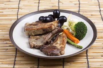 Steak of grill lamb