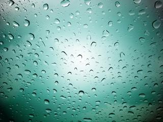 Many drops of rain