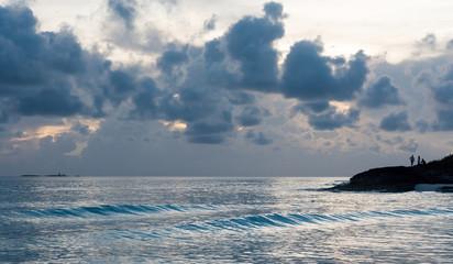 Idyllic Beautiful Blue Water Beach in Cuba